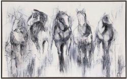 Aceite de caballos de la imagen para el arte de pared GF-P190522131