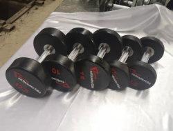高品質の卸し売り習慣PUのウレタンCPUの上塗を施してあるダンベルの十字の適性の体操