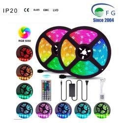 10M 5050 RGB 색상 변경 로프 라이트 할로윈, 추수감사절, 크리스마스를 위한 44키 IR 조종기 및 전원 어댑터가 있는 유연한 LED 스트립 조명 키트