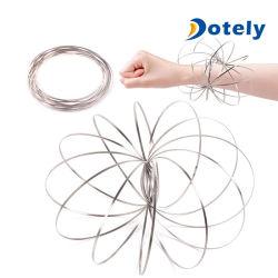 Поток 3D металлических колец рычага Slinky динамический науки Magic Fidget игрушка для регулирования расхода