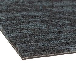 Conjunto de fichas de Alfombras alfombras - Cuadrados 50x50cm Lyon suelos Non-Slip Vinyl-Back Premium un excelente aislamiento Oficina, Casa, Hotel Gris claro