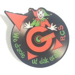 Metalen Geprinte Clown Logo Led Light Badge