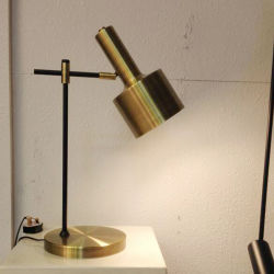 Decoración moderna lámpara de mesa de escritorio antiguo en bronce, para la Cabecera del hotel, Salón, Dormitorio