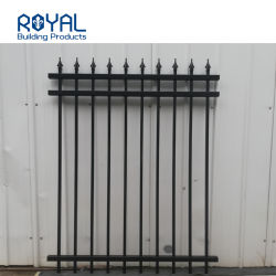 Royal Design personnalisé moulage noir en aluminium à revêtement poudré Spearhead Clôture