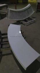 Forme incurvée couleur blanc pur Pierre Panneau alvéolé pour réception feuille de tableau