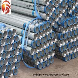 Tubo d'acciaio galvanizzato tuffato caldo del tubo d'acciaio di nero di carbonio di ERW per uso di piegamento della mobilia