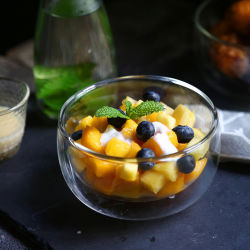 350ml en verre borosilicaté haute cuisine bol en verre Lyaer à double paroi