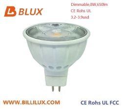 할로겐 스포트라이트 효력 LED 스포트라이트 8W MR16 Dimmable 650lm