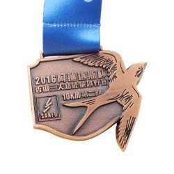 Custom Alliage de zinc métal 3d'émail exécutant Sport olympique le module de finition de soccer de l'or blanc Prix Golden Marathon d'honneur militaire Médaille de l'insigne de souvenirs (MD05-C)