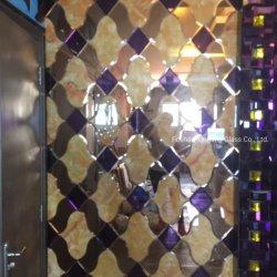 카지노 KTV 호텔 카운터 Backgound를 위한 비스듬한 가장자리 유리 또는 훈장 미러 벽 훈장