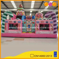 Verwendetes Partei-Überbrückungsdraht-Süßigkeit-grosser aufblasbarer Bären-federnd Haus für Mädchen-Spielzeug (AQ01666-2)