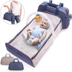Ebay Multipockets exterior lindo design expansível Momy Dobrável Fraldas para bebés Dad Saco de enfermagem para crianças cuidados do bebé