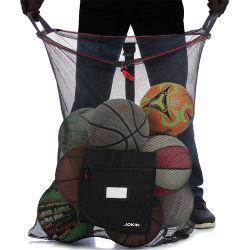 網のサッカーボール袋-バスケットボール、バレーボール、泳ぐ野球を含むスポーツのための頑丈なドローストリング袋の把握装置