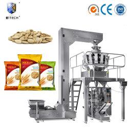 Macchina imballatrice del pesatore 10 del sacchetto capo di Vffs per i semi impaccanti/cereale/avena/funghi liofilizzati