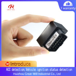 Grande irá Tr09 SMS precisa de OBD do veículo GPRS Tracker Rastreador GPS Manual