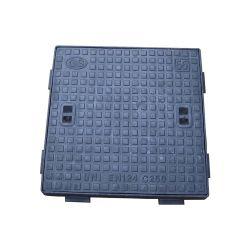 غطاء فتحة مانهول مزدوج محكم الغلق En124 D400 Ductile Iron Square 600x600 مسبك