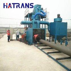 Hqgn الصلب الأنابيب الصلب الجدار الداخلي آلة التفجير الصدأ إزالة المعالجة قبل الطلاء للبتروكيماويات ، والصناعات الفولاذية