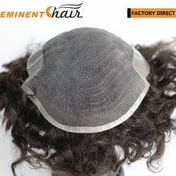 Base Lace Toupee Homens de cabelo humano substituição