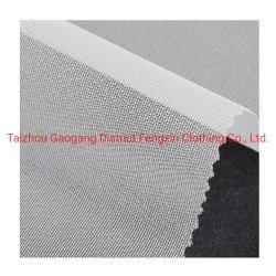 Circulaire de 100 % polyester tricoté PA revêtement tissé pour d'interligne de vêtements en denim