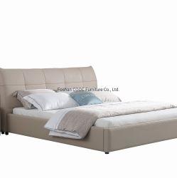 Unbedeutende Schlafzimmer-Möbel modernes Leahter Königin-Größen-Bett