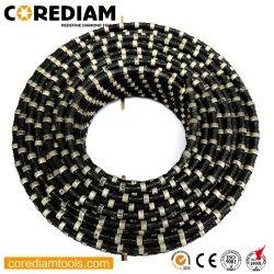D11.5mm 콘크리트 절단 고무 및 스프링 다이아몬드 와이어 톱 스톤 채석 절단용