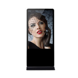 Voller HD Innenfußboden, der LCDdigital Signage steht und BildschirmanzeigeAndroid/WiFi Media Player mit Touch Screen bekanntmacht