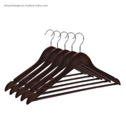 Personnalisé de haute qualité de vente en gros à chaud de vêtements de cintres en bois de rack