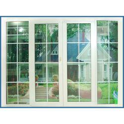 Французские окна и двери UPVC винила наружные защитные элементы внутренней вход опускное стекло внутренних дел пластиковые двери из ПВХ