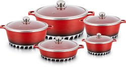 La FDA LFGB demostró la tecnología de Italia de aluminio fundido cacerola cocina utensilios de cocina Olla