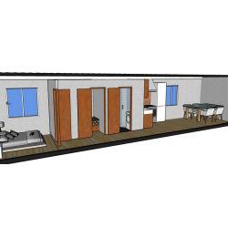 변경한 가동은 병원 진료소를 위한 콘테이너 진료소 집을