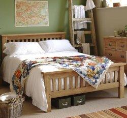 고급의 현대적인 Nordic 침대 솔리드 패션 나무 침대 디자인