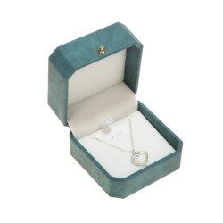 Lederner Schmucksache-Kasten-Luxuxsamt-kundenspezifischer Geschenk-Schmucksache-Ring-Kasten