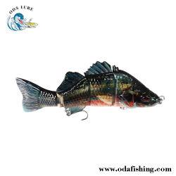 Four-Section Bass (7'') Pesca Lure Fabricação Swimbait Lure Wobber pesca de isco Próteses Pesca Isco