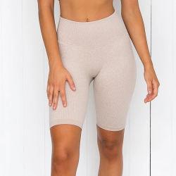 Großhandelseignung-Kleidungs-Frauen-Sommer-Sportkleidung-Yoga-Eignung-Kurzschluss athletisch