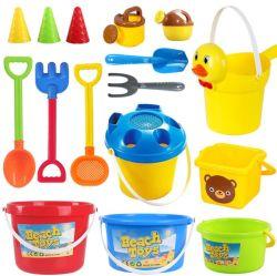 Chirldren juego al aire libre juego de arena de la cuchara de plástico de establecer nuevos juguetes de playa