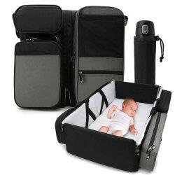 أفضل تخفيضات ساخنة متعددة الأغراض أنيقة كبيرة السعة مومياء خارجية محمولة مستدقة سرير مومياء الطفل الممطور القابل للطي حقيبة تبديل للنوم