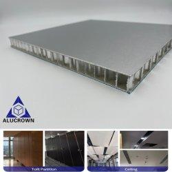 우드 그레인 HPL 장식 알루 알로이 스킨 복합 알루미늄 허니콤 코어 샌드위치 패널