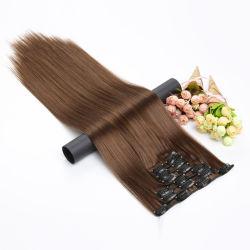 estensione lunga 6 PCS dei capelli diritti di 54cm/parti sintetiche termoresistenti dei capelli falsi dei Hairpieces clip 15color dell'insieme 16