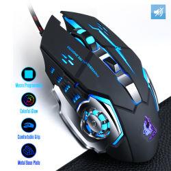 Il mouse 7 di gioco collegato professione abbottona del calcolatore del mouse mouse di Gamer del mouse ottico del gioco dei 4000 il mouse silenzioso del USB di Dpi LED per il computer portatile del PC