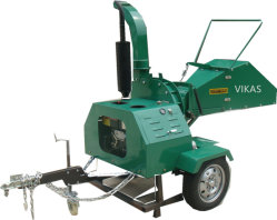 CE 認定 ATV ディーゼル木材分岐記録チッピングシュレッダーチップ Trituradora De Madera 40HP 50HP