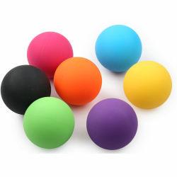 sfera di rullo di massaggio di Lacrosse della gomma di silicone di 6.3cm con il marchio su ordinazione per la versione di Myofascial