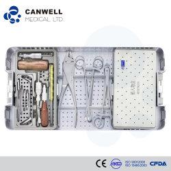 Conjunto de Instrumentos Cirúrgicos Canwell para mini-placa de travamento da caixa do Kit de ferramenta Broca de implantes de Trauma Ortopédico
