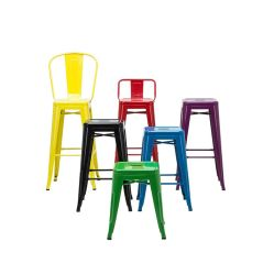 Chaire en métal moderne coloré Bistro Bar Pub compteur selles pour utilisé