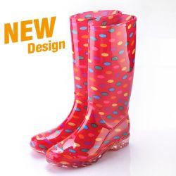 As mulheres de PVC de moda de calçado de segurança na selva de camuflagem duráveis duráveis Botas de chuva