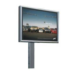 Rectangle en acier inoxydable libre panneaux rétroéclairés permanent pour la publicité extérieure