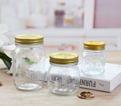 Opslag van hoge kwaliteit Voedingsmiddelen metalen deksels helder Pas rond glas aan Potten