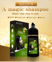 Permanente Haar-Farben-weibliches koreanisches graues seidiges Haar-Farben-Großverkauf-Weiß, zum des Shampoos im Gefäß zu schwärzen