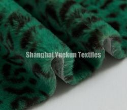 Impressão de leopardo de peles de coelho Faux Wholesales Peles com pêlo artificiais Fabric falso OEM de peles com pêlo