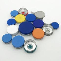유리용 13mm 20mm 다양한 색상 알루미늄 플라스틱 병 뚜껑 바이알