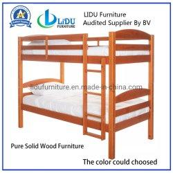Madera maciza de pino triples literas para niños muebles Bedset